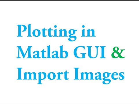 Matlab GUI: How to import images and plot graphs on matlab graphics user interface window