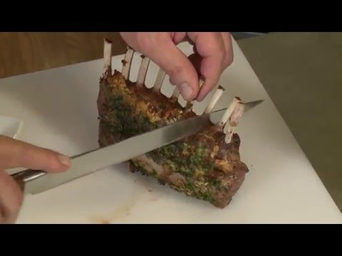 Cooking with Chef Lalanne Roasted Rack Of Lamb