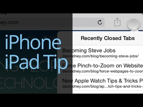 Open Recently Closed Tabs in Safari - iPhone & iPad Tips & Tricks