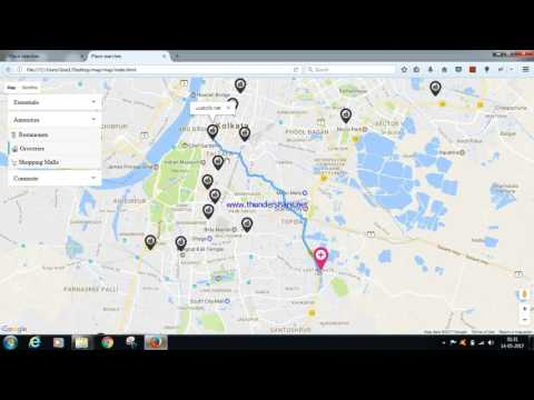 Nearby location search google map based in simple HTML, JAVASCRIPT, CSS