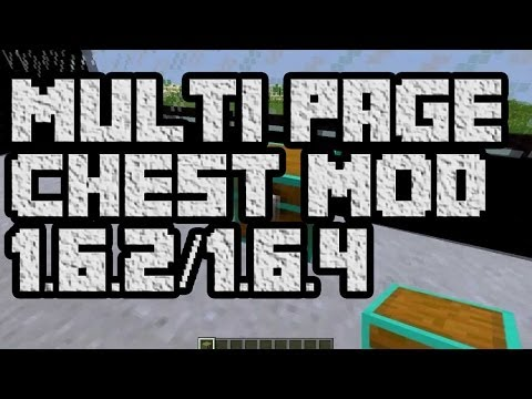 REVIEW MULTI PAGE CHEST - MINECRAFT 1.6.2 / 1.6.4