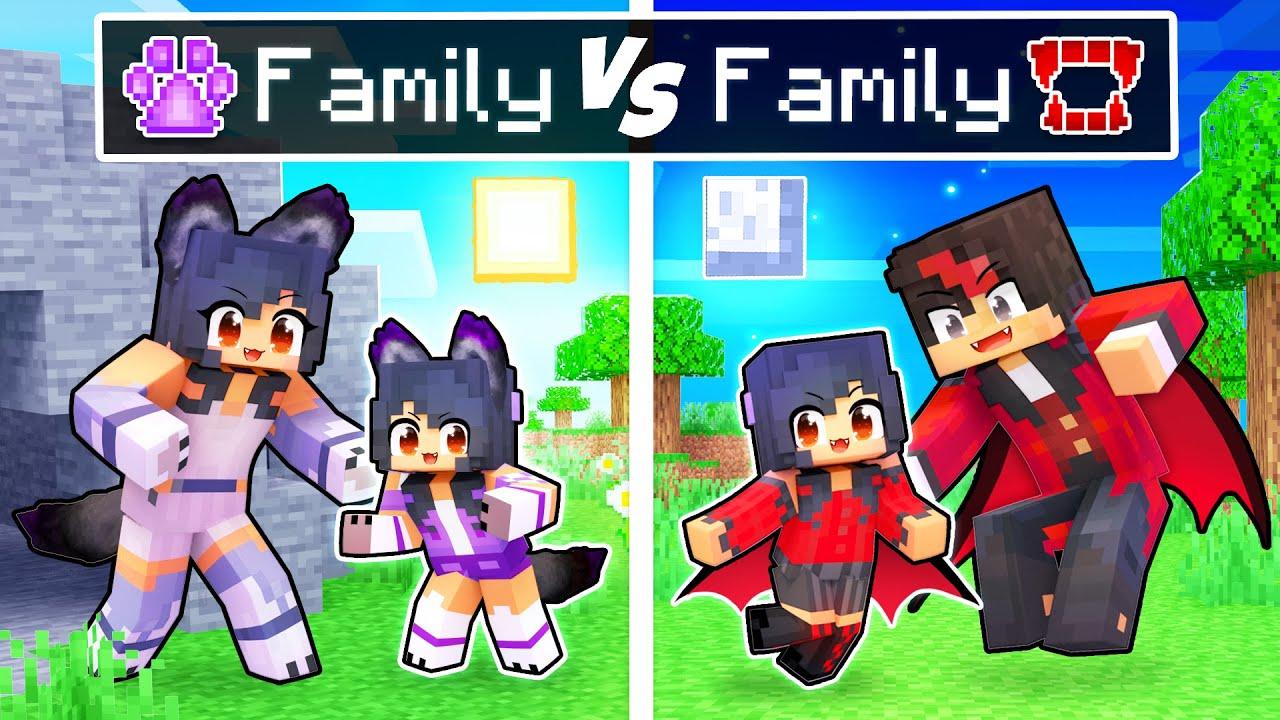 Minecraft WOLF Family VS VAMPIRE Family!
