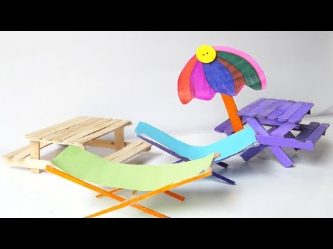 Amazing Toys for Kids | DIY Picnic Table & Beach Chairs Using Popsicle Sticks