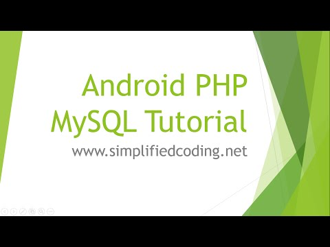 Android PHP MySQL Tutorial - Create a User Registration App