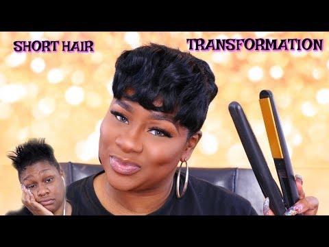 PIXIE CUT SHORT HAIR SHAVED SIDES TRANSFORMATION