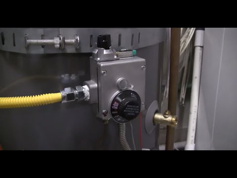 How to Light a Water heater pilot (new style)