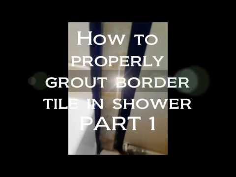 How to grout tile border edges