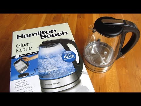 Hamilton Beach Water Kettle | Up Close View | Review Unboxing | Model 40865