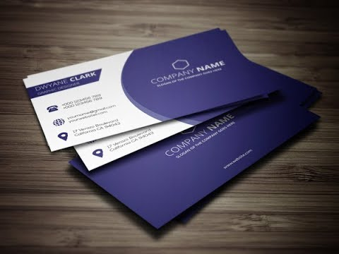 Clean Business Card Design || Illustrator CS6 Tutorial