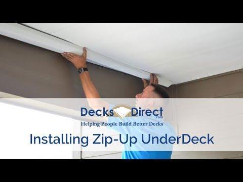 Zip-Up UnderDeck Installation
