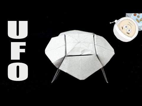 Origami UFO. How to make a paper UFO