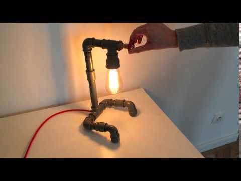 DIY Pipe lamp rotary switch