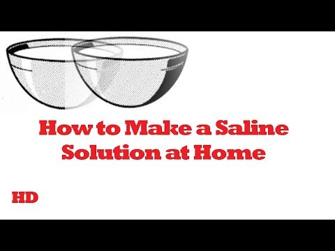 How to Make a Saline Solution at Home