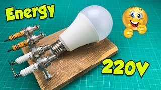 Amazing Technology Free Energy Generator By Spark Plug Magnet 100% At Home
