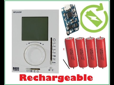 BOSS/Siemens THERMOSTAT - (Rechargeable  Battery  Modification)