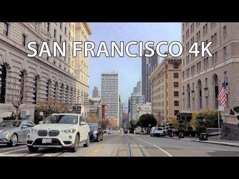 Driving Downtown - San Francisco USA 4K