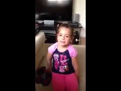 Little girl arguing with her dad over boyfriend