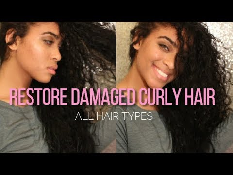 Restore Damaged Curly/Coarse Hair FAST ❤