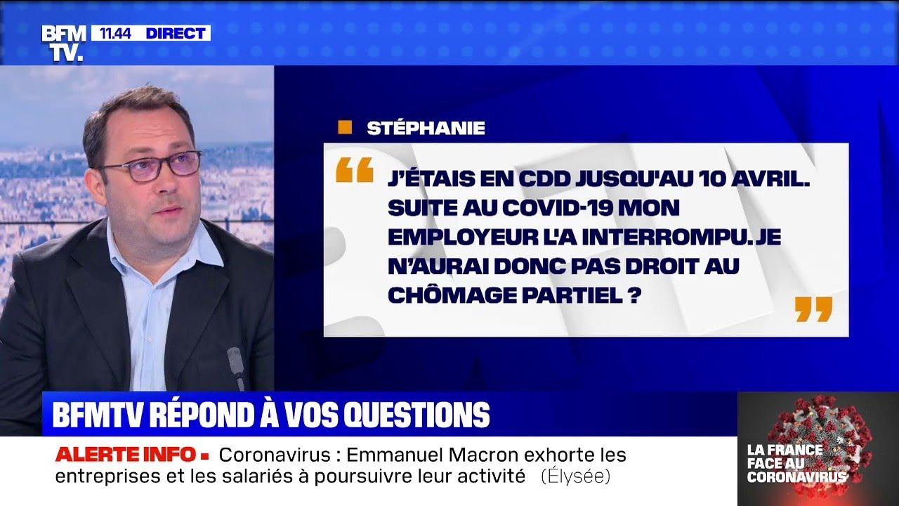Aurais-je le droit au chômage partiel, si mon CDD a été interrompu à cause du coronavirus ?