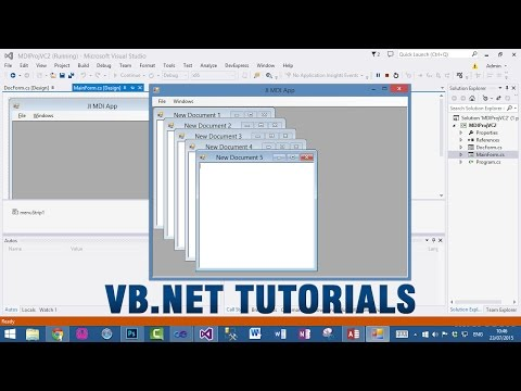 VB.NET Tutorial - How to create MDI Application