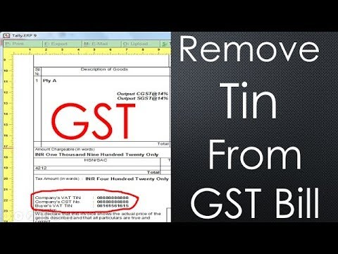 TALLY GST INVOICE print settings | remove vat tin number from invoice in tally gst
