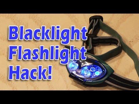 Blacklight Flashlight Hack! Nasty stain locator!