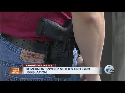 Governor Snyder vetoes gun bill