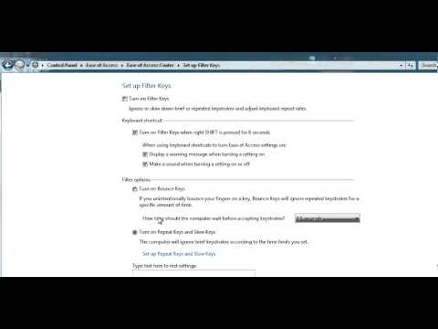 Filter Keys - Disable repeated keys