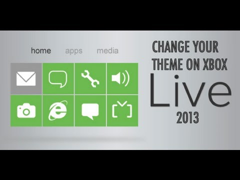 How To : Change Your Xbox Live Dashboard Theme - 2013 [HD]
