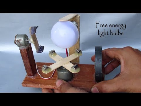 How to Make free energy light Bulbs using Motor with Magnet - Free energy generator homemade DIY