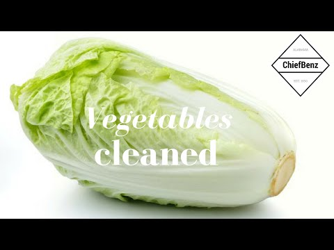 Vegetables cleaned by Baking Soda