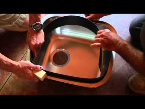 Installing Concrete Countertop Sink Form - Z Counterform