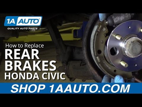 How to Install Replace Rear Brakes 2001-05 Honda Civic