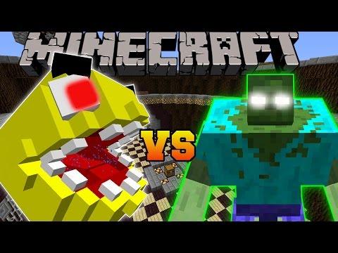 Minecraft: PACMAN VS MUTANT ZOMBIE - Minecraft Mob Battles - Modded Mini-Game