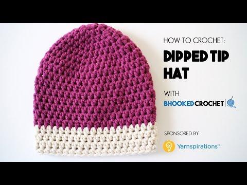 How to Crochet the Dipped Tip Crochet Hat Left Handed - Beginner Friendly