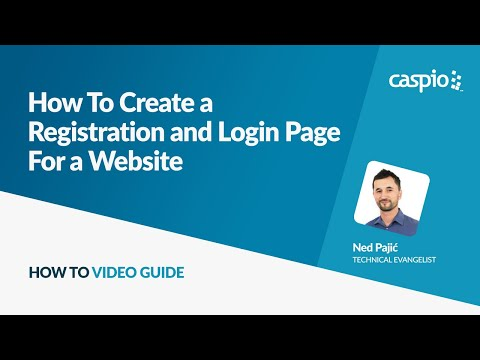 How To Create a Registration and Login Page For a Website
