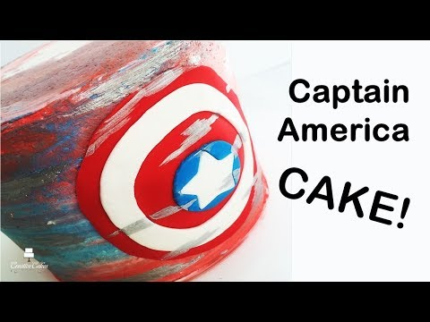 Captain America Shield Cake | how to make from Creative Cakes by Sharon