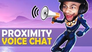 PROXIMITY VOICE CHAT IN FORTNITE!? | HIGH KILL FUNNY GAME - (Fortnite Battle Royale)