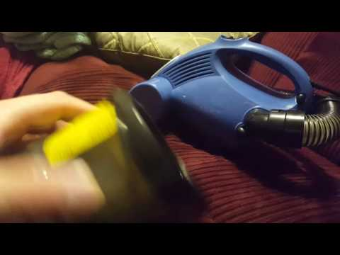 Shark bagless hand vac first test