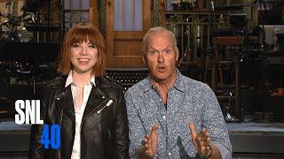 SNL Host Michael Keaton and Carly Rae Jepsen Go On An Easter Egg Hunt