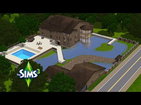 The Sims 3 Speed Building - Mansion on the Pond