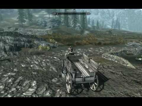 Skyrim Creation Kit, Mount pulling a wagon