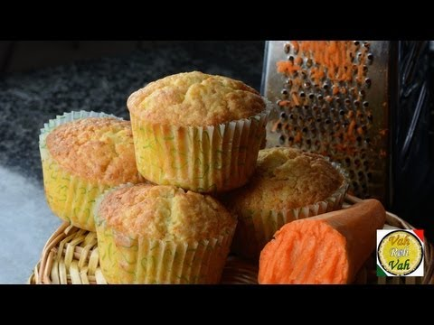 Simple Carrot Muffins  - By Vahchef @ vahrehvah.com