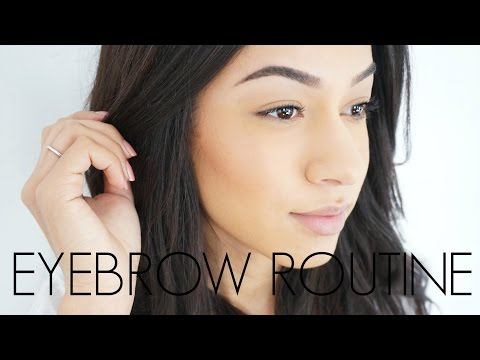 Current Eyebrow Routine | Stubborn, Curly Brow Hairs