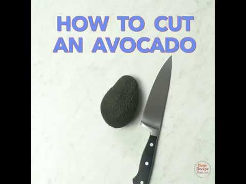 How To Cut Avocado without an injured