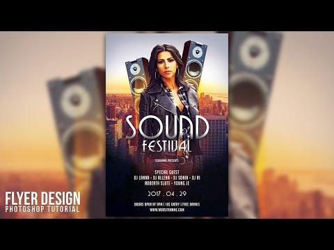 Design a Sound Festival Flyer In Photoshop