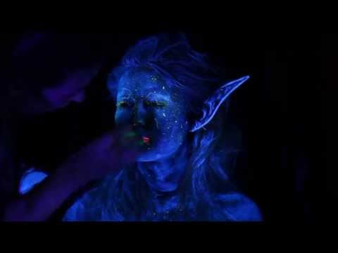 Blacklight Fairy Makeup Tutorial and Photoshoot