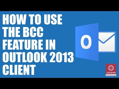 How to add BCC on Outlook 2013