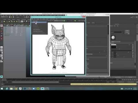 Wireframe rendering in Maya 2015