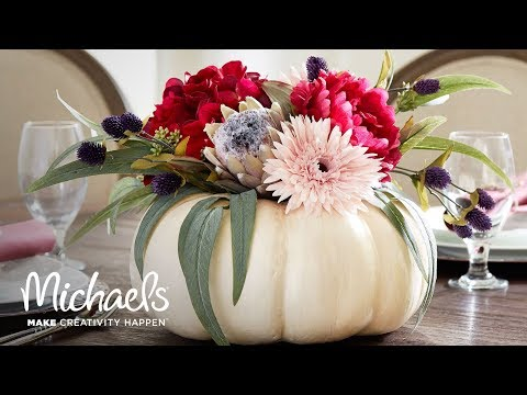 DIY Fall Decor: Floral Pumpkin | Michaels